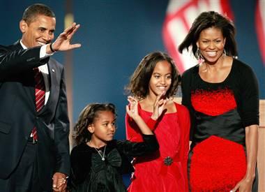 Barack Obama Elected President President Barack Obama And Family